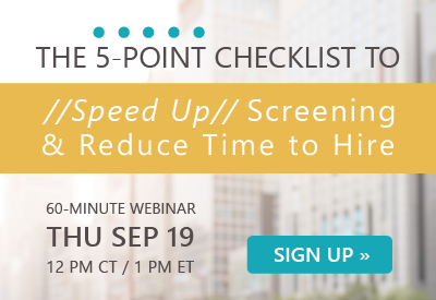 Upcoming Webinar | Speed Up Screening | Sep 19 @ noon CT