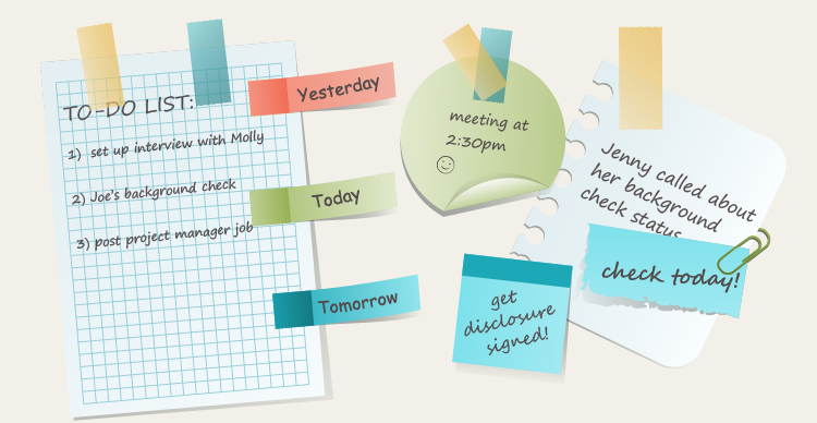 Sticky Notes & Reminders for Background Checks